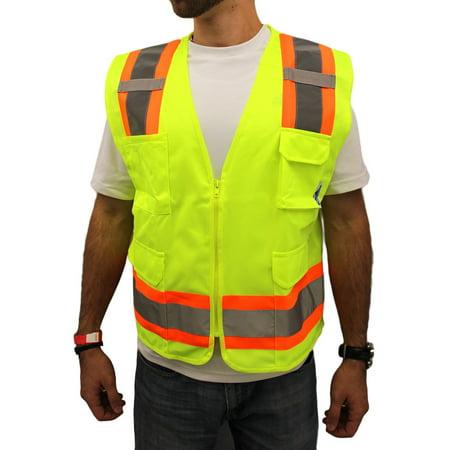 - 2XL Surveyor Lime Two Tones Safety Vest , ANSI/ ISEA 107-2015