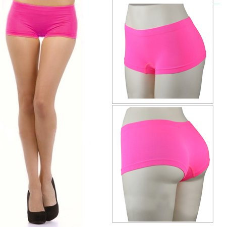 c0c7f142f137 CCTX - New Stretch Seamless Dance Exercise Booty Mini Panties Boy Shorts  Brief Spankies - Walmart.com