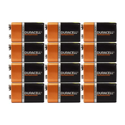 12 Count - Duracell MN1604 9V Volt 6LR61 Duralock Coppertop Alkaline Batteries