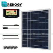 Renogy Solar Panel Starter Kit 50W 50 Watts Polycrystalline Off Grid 12V RV Boat