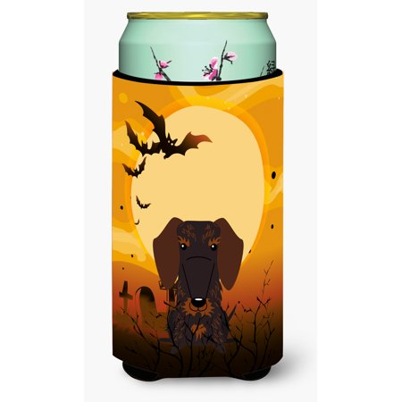 Halloween Wire Haired Dachshund Chocolate Tall Boy Beverage Insulator Hugger BB4395TBC
