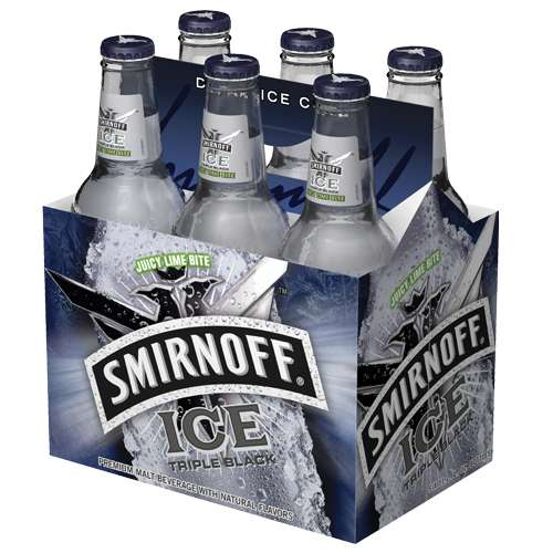 Smirnoff Ice Tripe Black Flavored Malt Beverage, 6 pack, 12 fl oz