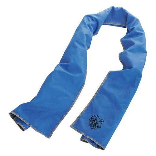 CHILL-ITS 6602MF Cooling Towel,Bl,40-7/8in.L x 9-3/4in.W G0459140