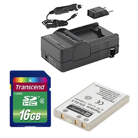 Nikon Coolpix P530 Digital Camera Accessory Kit includes: SDENEL5 Battery, SDM-136 Charger, SD4/16GB Memory Card ()