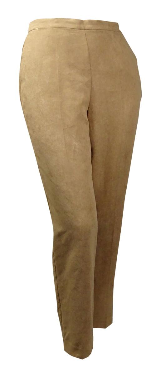 Alfred Dunner Women's El Dorado Faux-Suede Medium Pants