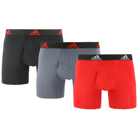 Adidas Men's Stretch Climalite Boxers, 3-Pack Adidas Climalite Stretch Jersey