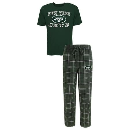 Flannel Mens Pajamas - New York Jets NFL