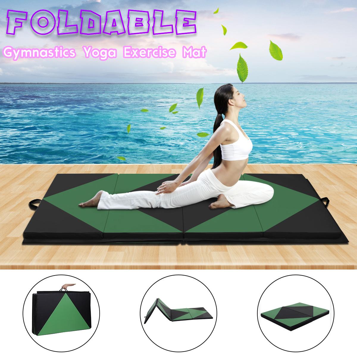 Large Folding Panel Yoga Exercise Gymnastics Thick Gym Fitness Tumbling Mat 240x120x5cm