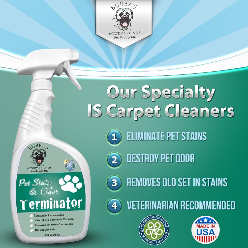 32 oz solution spray odor eliminator that removes dog or cat urine smell in carpet rug or hardwood floor walmartcom