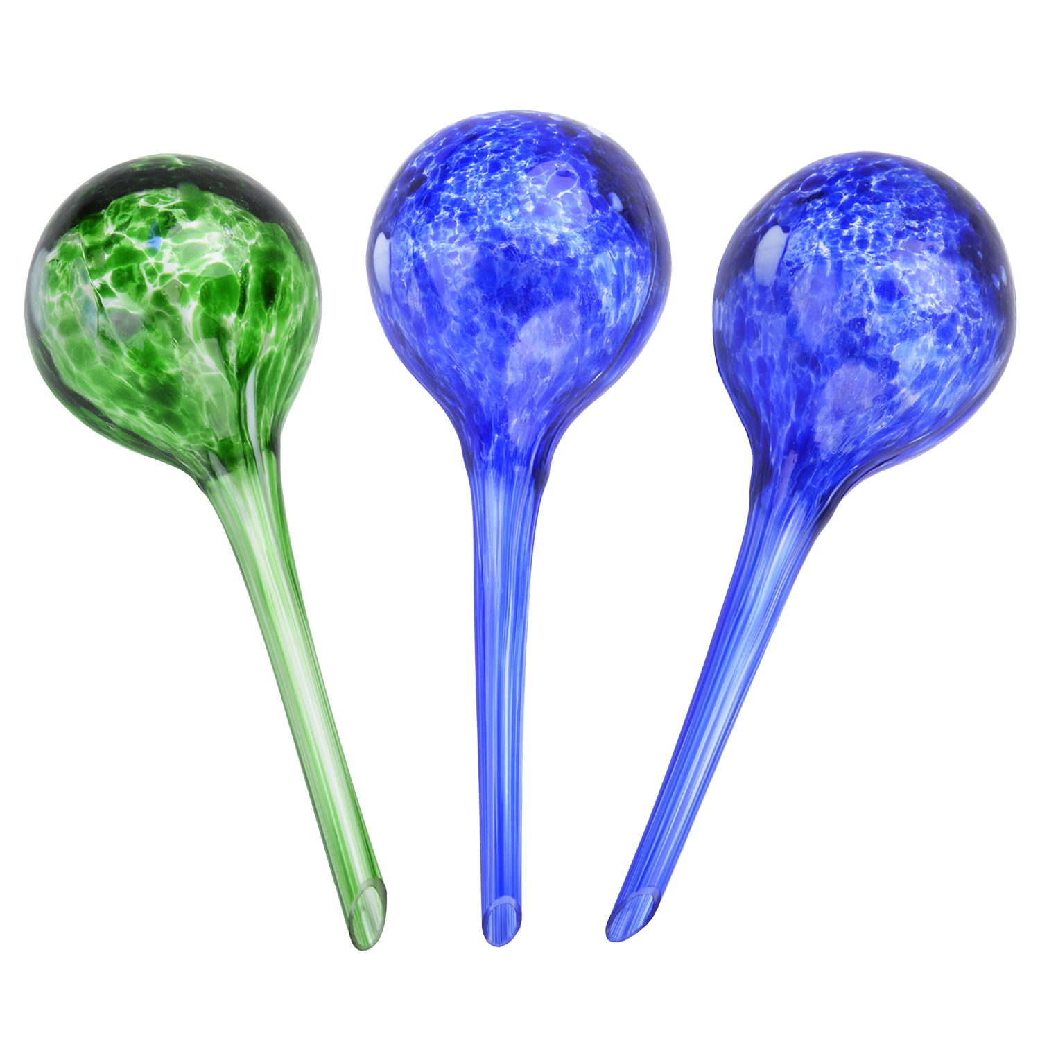 Watering Globes, Outgeek 4Pcs Plant Automatic Watering Bulbs Glass Aqua Globes for Indoor Outdoor Garden Home Office Plant