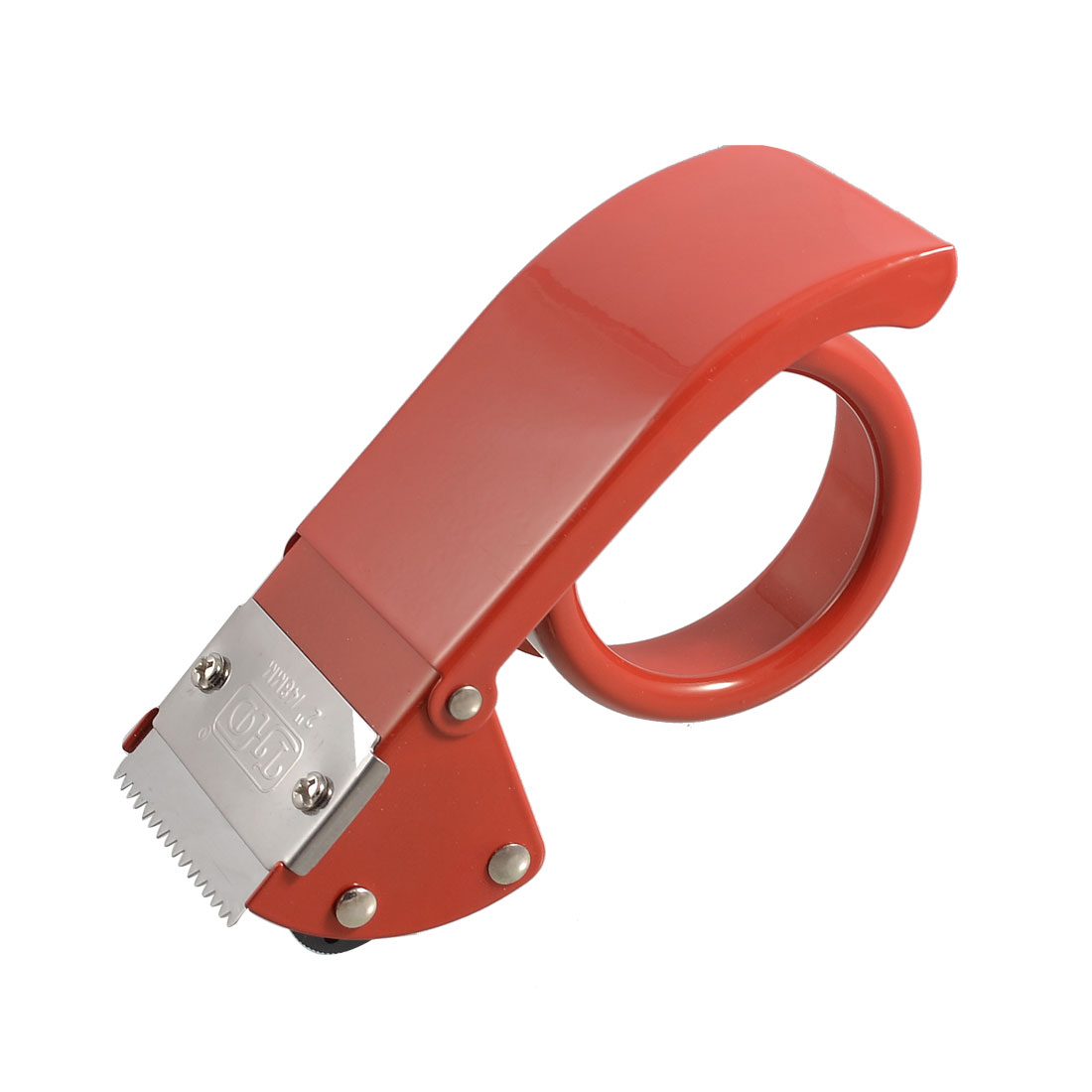 Unique Bargains Unique Bargains Red Metal Roller Sealing Parcel 2 inch Wide Tape Cutter Dispenser