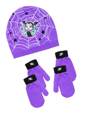 Infant Toddler Girl's Vampirina Hat and 2 Pair Mitten Set