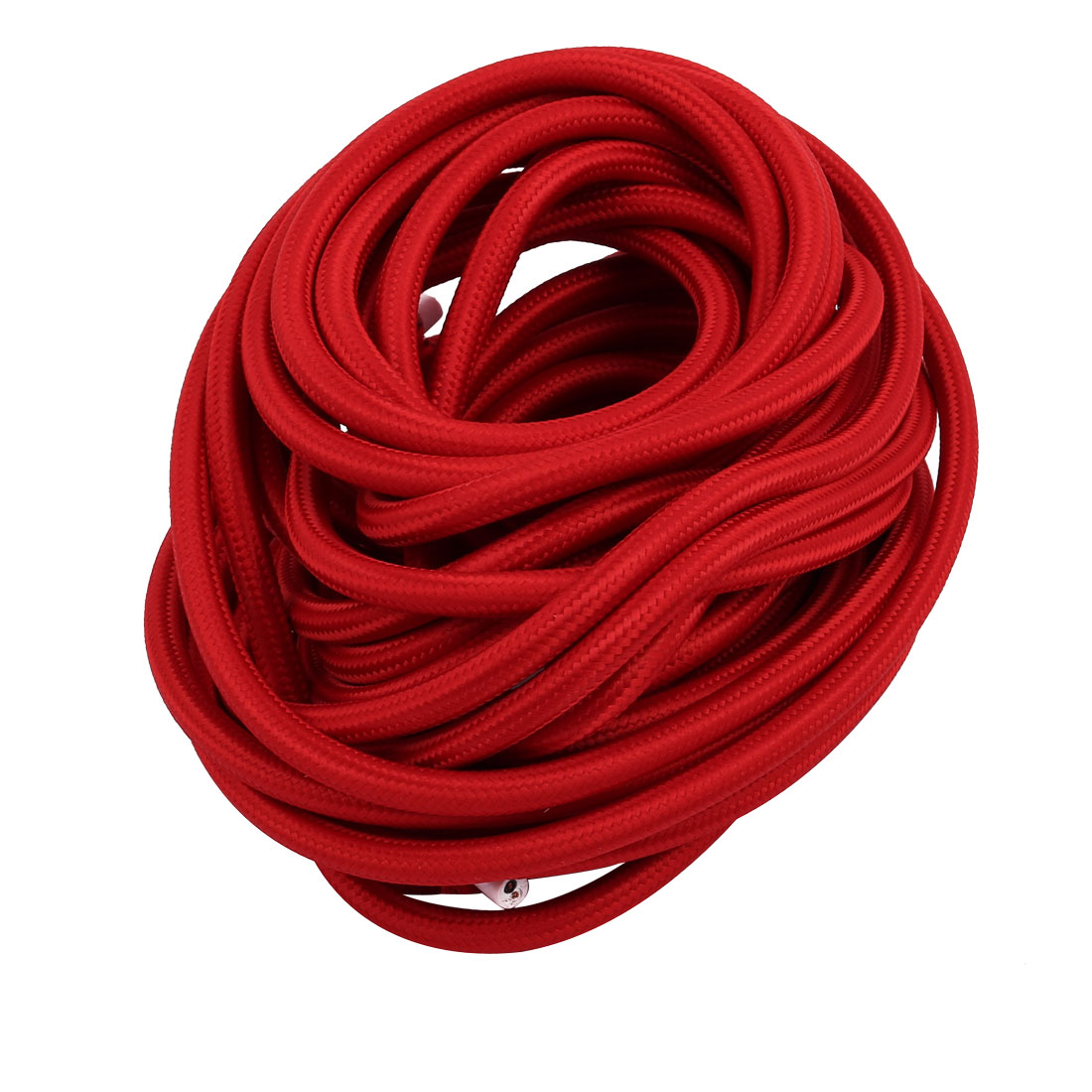 Unique Bargains VDE Dual Core Red Braided Cable Desk Lamp Power Ground Wire 8 Meters