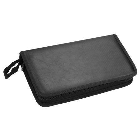 80 Faux Leather Disc Storage Bag CD Holder DVD Case VCD Organizer Carry - Mini Cd / Dvd Sleeve