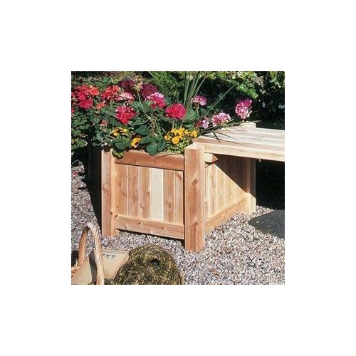 Rustic Natural Cedar 3122121 Cedar Looks Planter Box