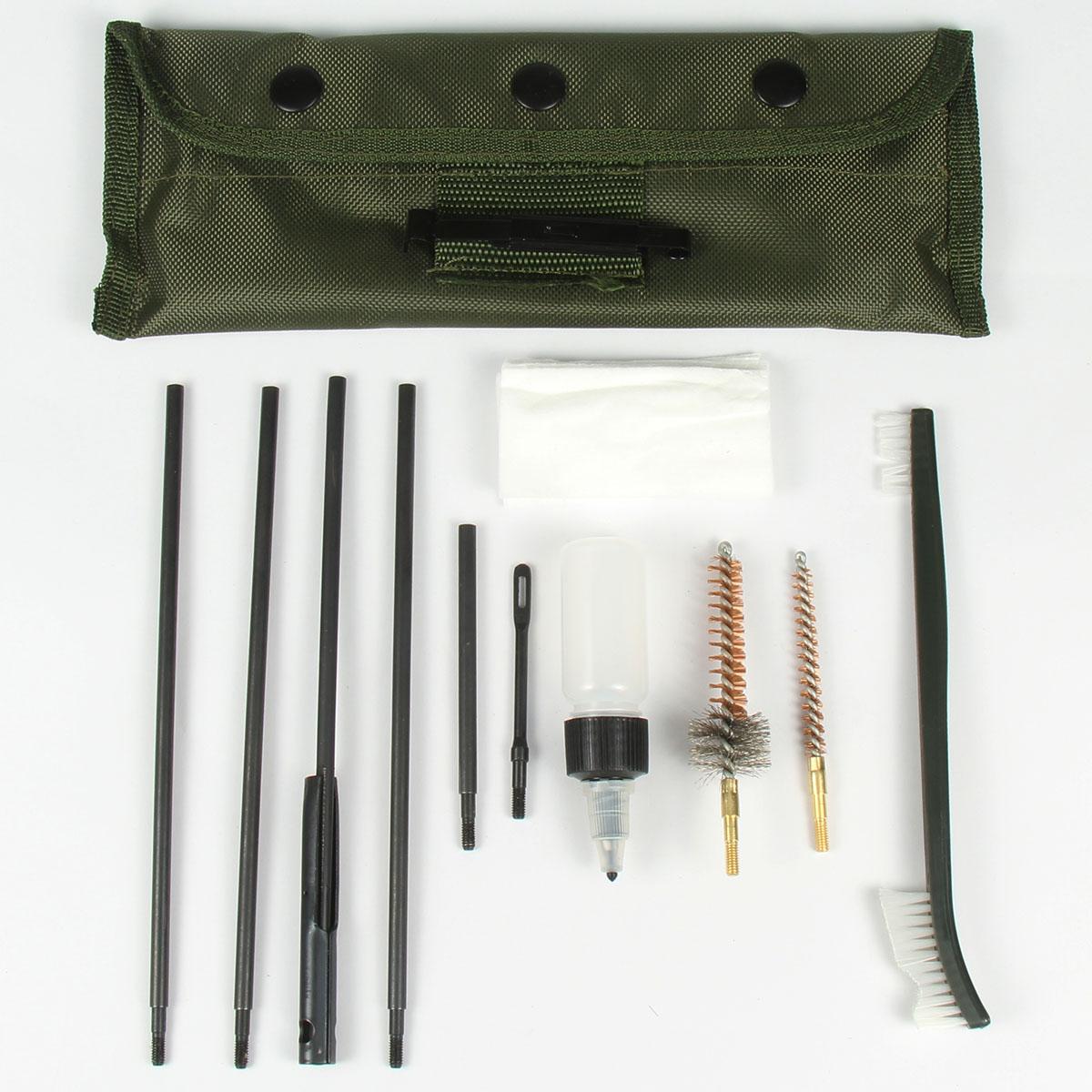 TACFUN 10pc Universal .22 cal .223 556 Rifle Gun Pistol Cleaning Kit Set