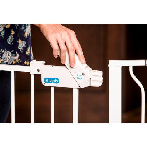 Regalo 58-Inch Extra WideSpan Walk Through Baby Gate, Bonus Kit ...