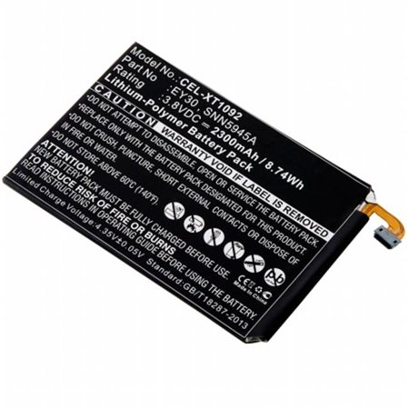 Dantona Cellular Battery - Dantona Industries CEL-XT1092 Replacement Cell Phone Battery for Motorola EY30