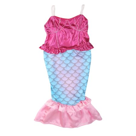 StylesILove Kids Girl's Princess Mermaid Dress Halloween Party Costume (150/11-12 Years) (Kids Costume Party)