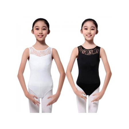 Topumt Girl Sleeveless Ballet Floral Leotard Bodysuit