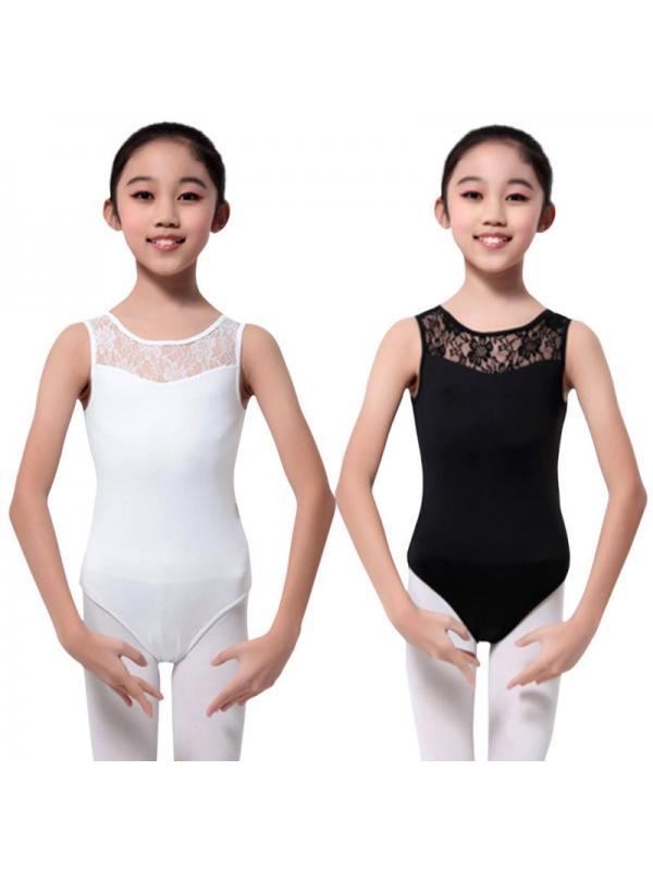 Girls Gym Training Ballet Dance Wear Child Lace Leotards Costume Sport Bodysuit