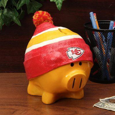 Kansas City Chiefs Piggy Bank   Large With Hat