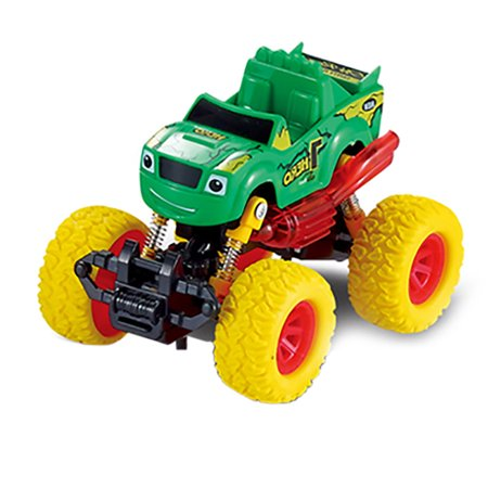 Toddler Cars Toys,Pull Back Trucks Kids Toys,Inertia Car Toys Friction Powered Truck Vehicles Big Tire Wheel Alloy Car,Best Gift for