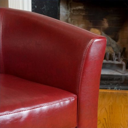Noble House Histoire Leather Club Chair in Red - image 1 of 2