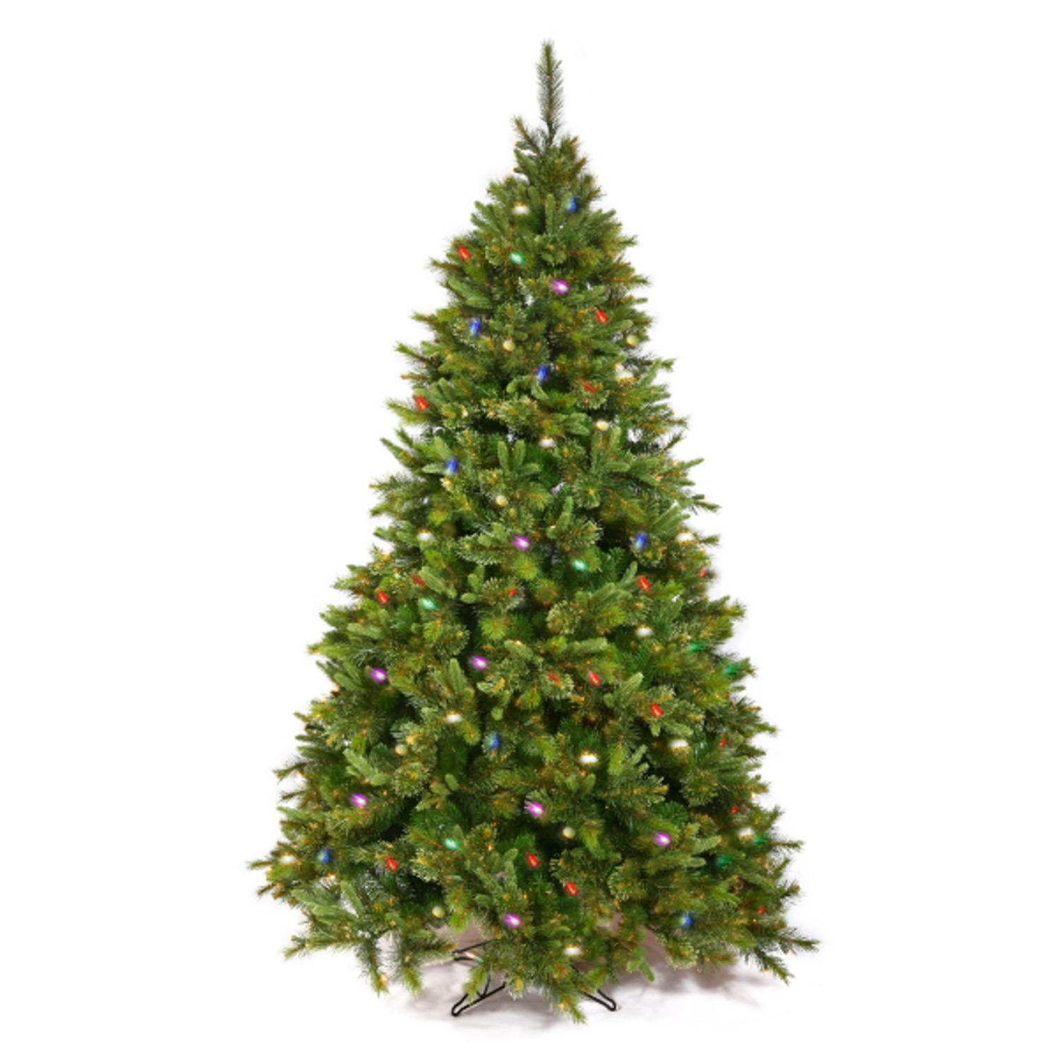 3' Pre-Lit Mixed Cashmere Pine Medium Artificial Christmas Tree - Multi-Color Dura Lights