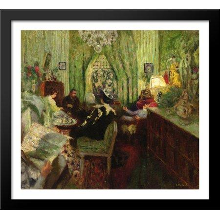 The Salon of Madame Aron 30x28 Large Black Wood Framed Print Art by Edouard Vuillard (Saloon Madame)