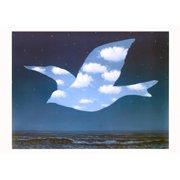 La Promesse Art Print By Rene Magritte - 28x19.5