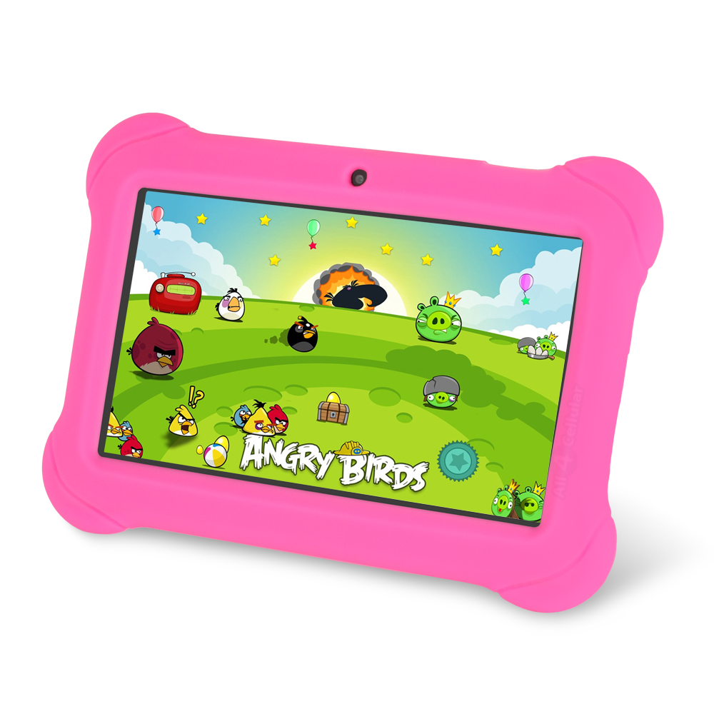 "Orbo Jr. 4GB Android 4.4 Wi-Fi Tablet PC w/Beautiful 7"" Five-Point Multitouch Display - Special Kids Edition - Pink"