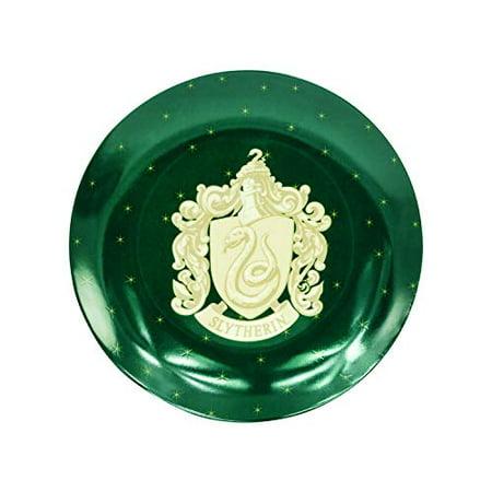 Harry Potter Slytherin Christmas Holiday Salad Dessert Plates, Set of 4 - Porcelain - -