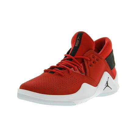 bf431e7126cc Nike Men s Jordan Flight Fresh Gym Red   Black - White Mid-Top Leather  Basketball ...