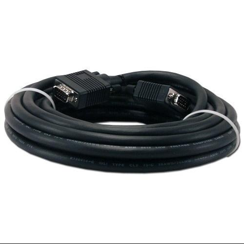 QVS Video Cable - for Monitor, Video Device - 15 ft - 1 x HD-15 Male VGA - 1 x HD-15 Male VGA - Black