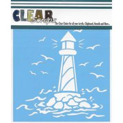 "Clear Scraps Stencils 12""X12""-Lighthouse"
