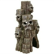 Exotic Environments Skull Mountain Aquarium Ornament Tall 5-1/2-Inch By 5-Inch By 10-Inch (Pack of 1)