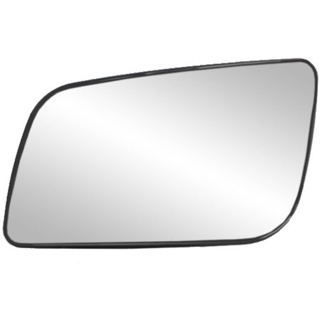 88055 - Fit System Driver Side Non-heated Mirror Glass w/ backing plate, Chevrolet Astro Van, GMC Safari Van 88-05, 5 7/ 16