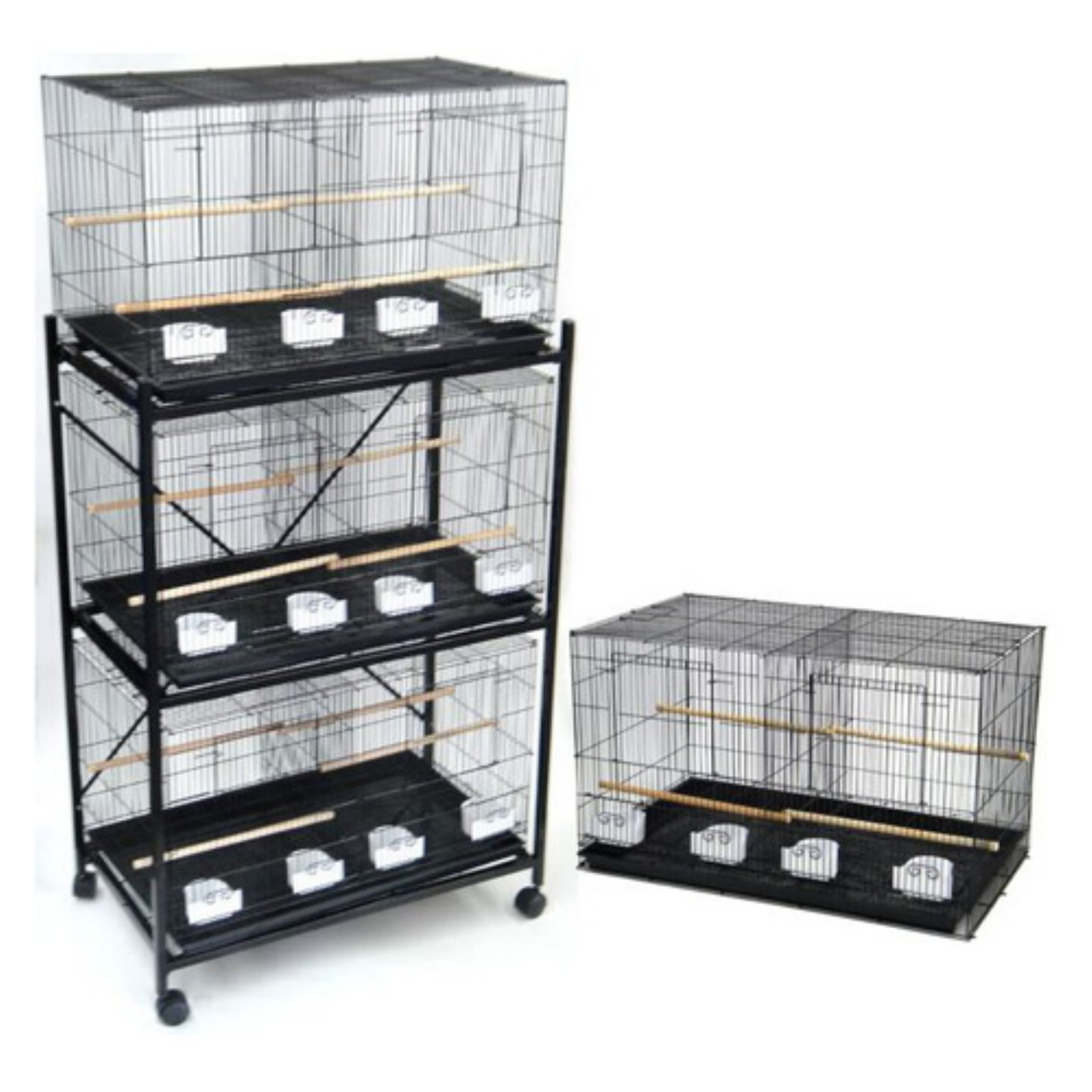 YML Group Set of 4 Canary and Finch Breeding Cages With Stand