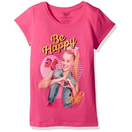 Nickelodeon Big Girls' Jo Siwabe Happy Short Sleeve T-Shirt, Hot Pink, XL-16