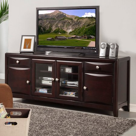 Alpine Furniture Laguna 72 in. TV Console – Dark Espresso