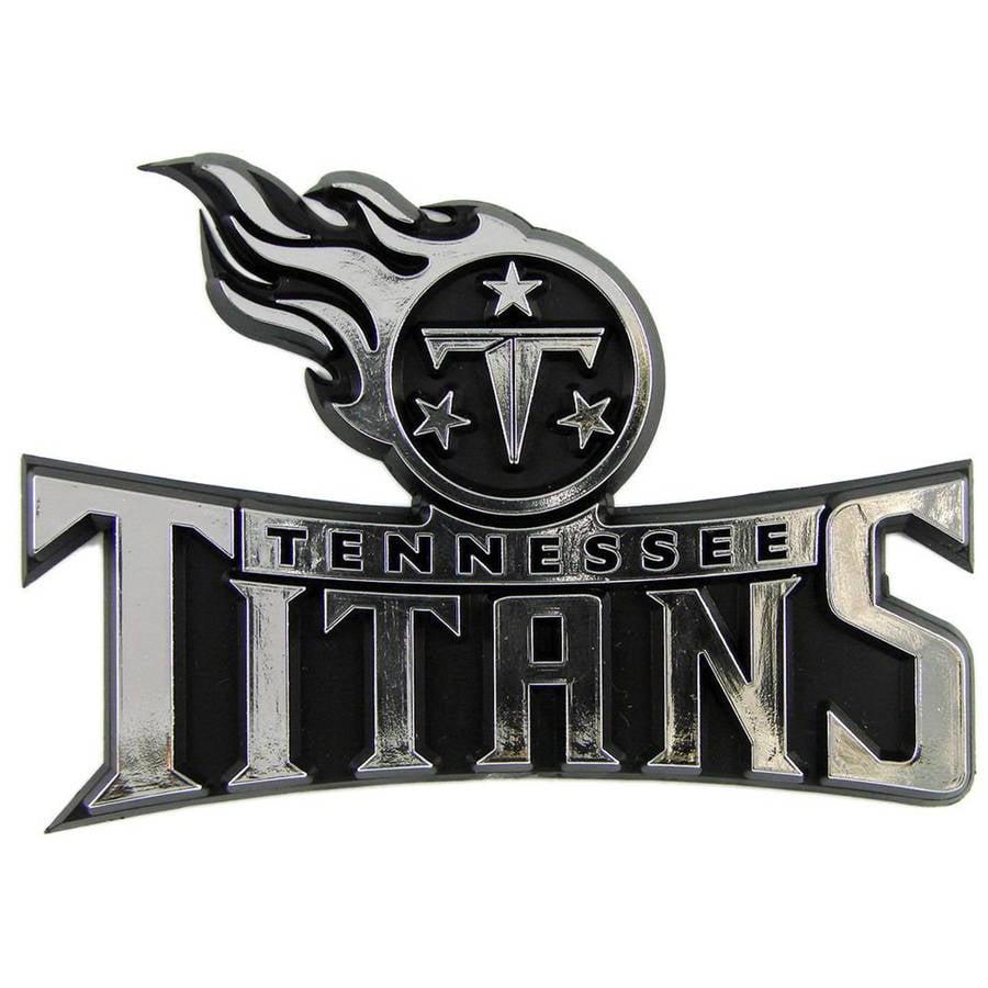 NFL Tennessee Titans Chrome Automobile Emblem