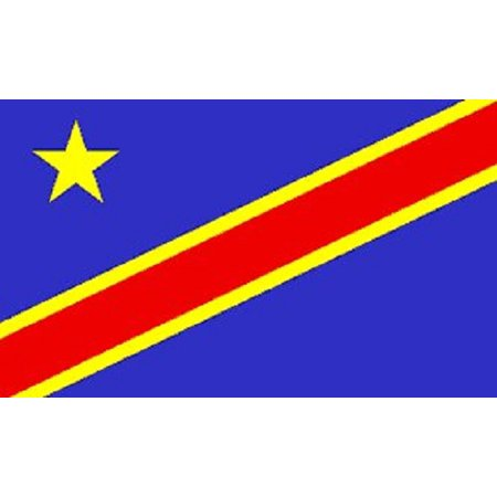 3x5 Democratic Republic of Congo Flag African Country Banner Pennant -