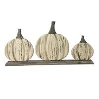 "16.5"" Three Little Pumpkins Fall Harvest Decoration"