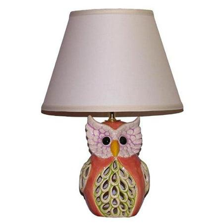 Crown lighting 1 light peach green owl table lamp walmart crown lighting 1 light peach green owl table lamp aloadofball Choice Image