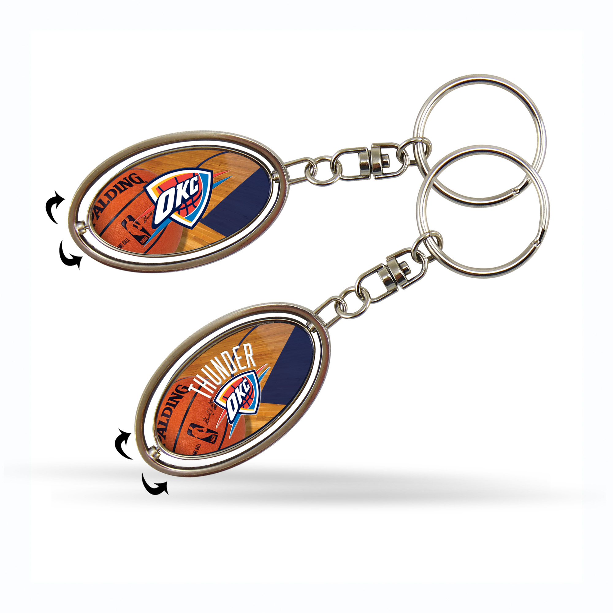 "NBA 2"" Metal Spinner Key Chain Celtics Rico Industries"