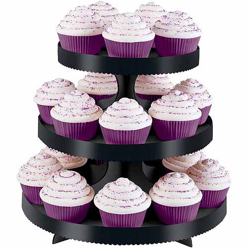 Wilton 3-Tier Treat Stand, Black with Wraps 24 ct. 1512-0860