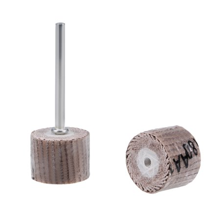 """2 Pcs 15x15mm Flap Wheel 180 Grits Abrasive Grinding Head with 1/8"""" Shank for Rotary Tool - image 5 de 5"""