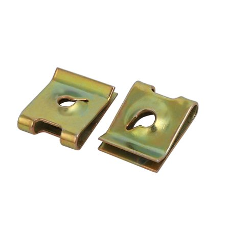 Unique Bargains 20pcs M3/ST3.0 Thread Size 65Mn Steel Zinc Plated Extruded U Nut Brass Tone - image 2 of 4