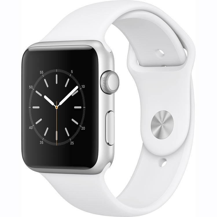 Refurbished Watch Series 1 42mm Apple Silver Aluminum Case White Sport Band...